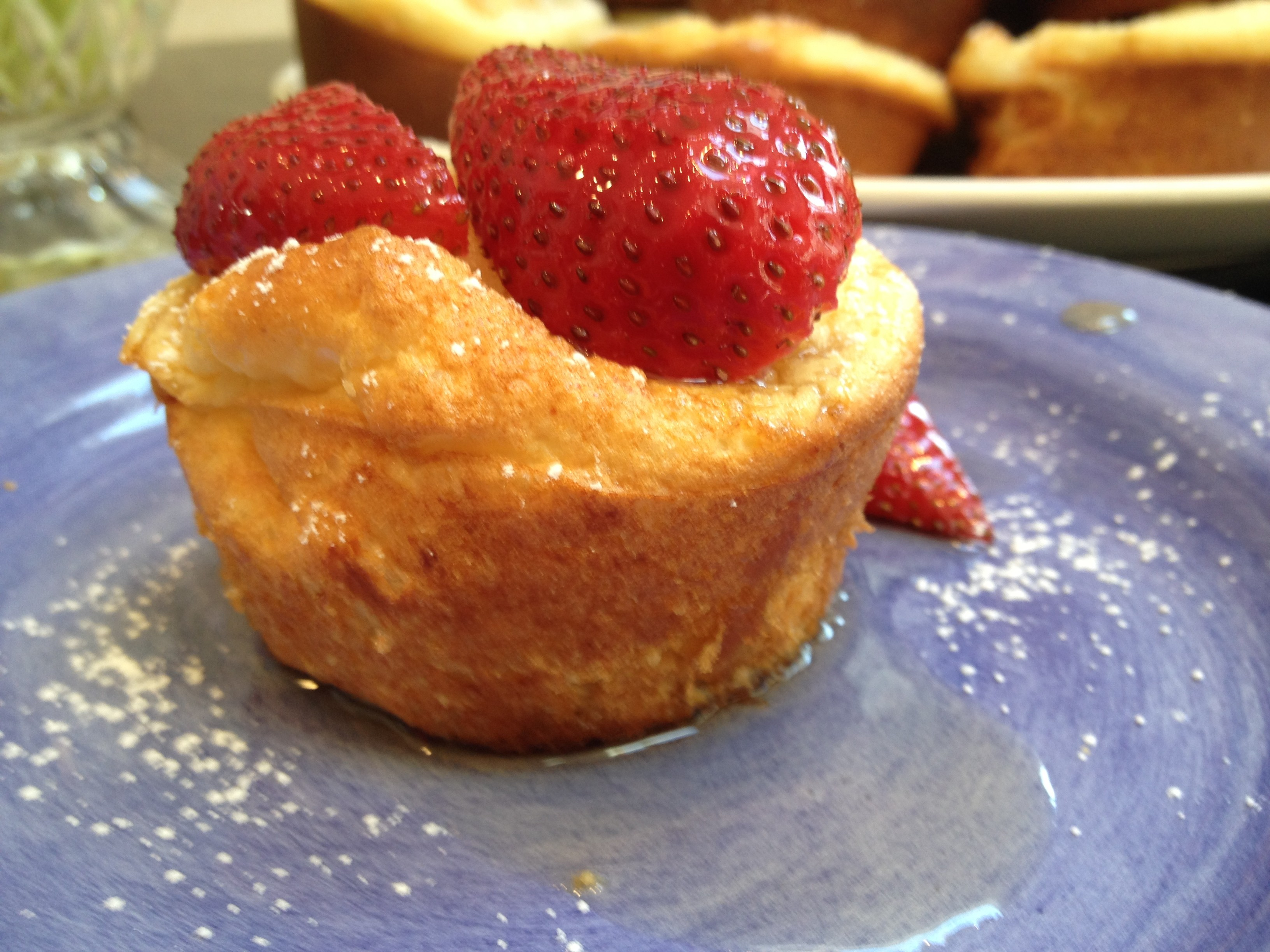 Pancake Soufflé Muffins with Strawberry-Maple Syrup | Mom ...